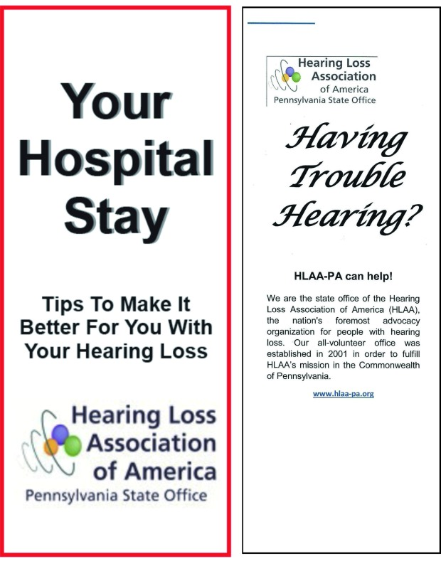 hearing loss brochures