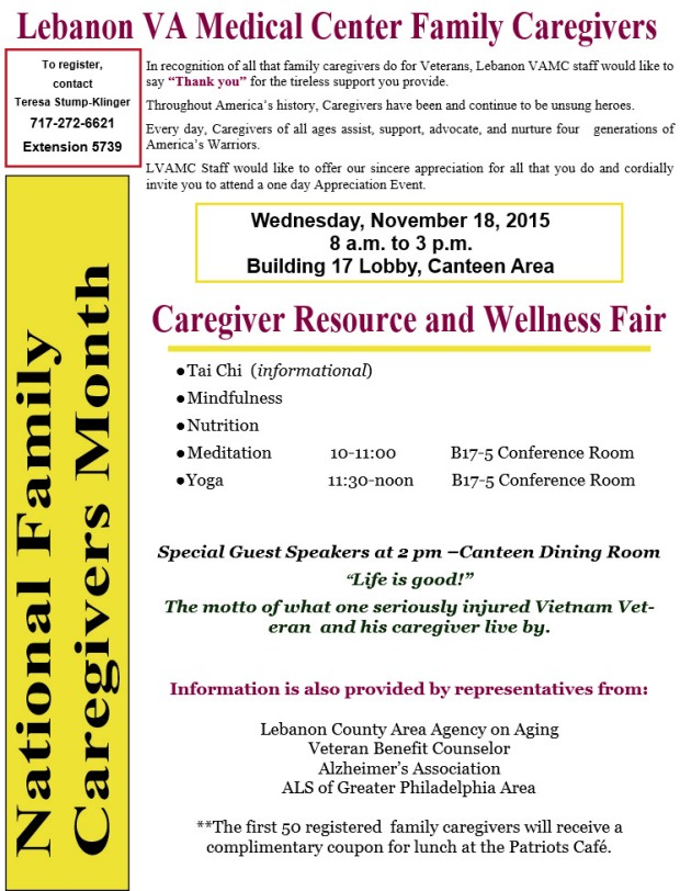 VA caregivers event