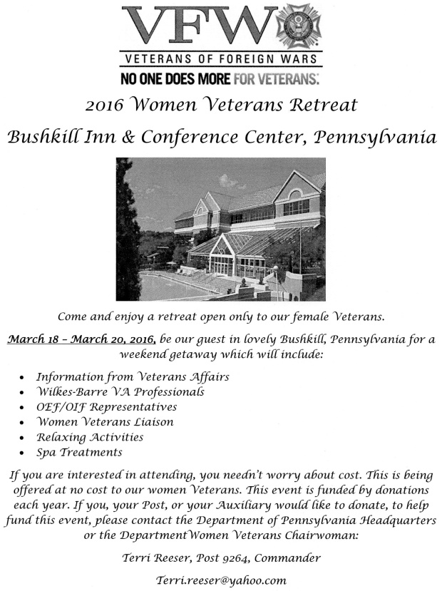 women veterans retreat