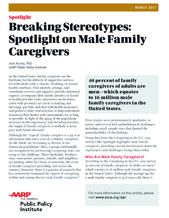 male family caregivers