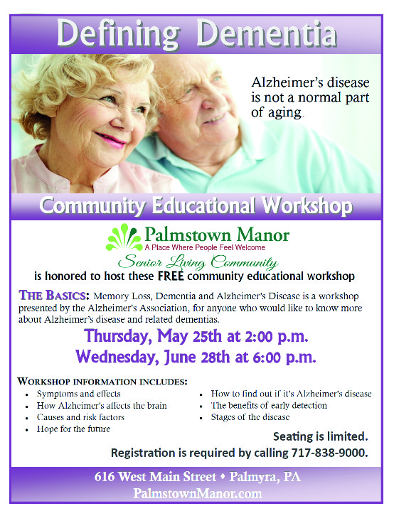 palmstown dementia workshop