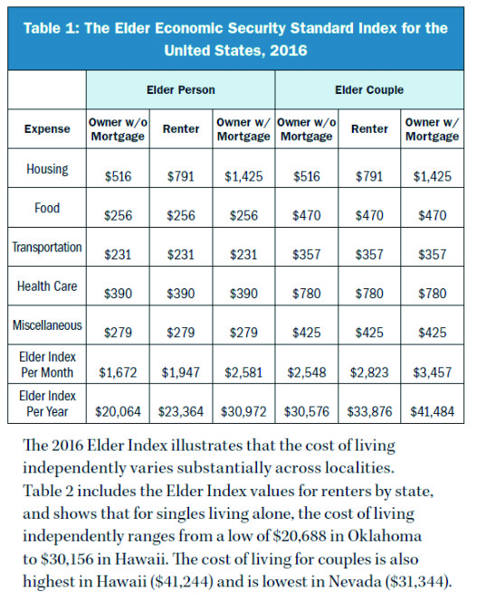 elder economic security standard