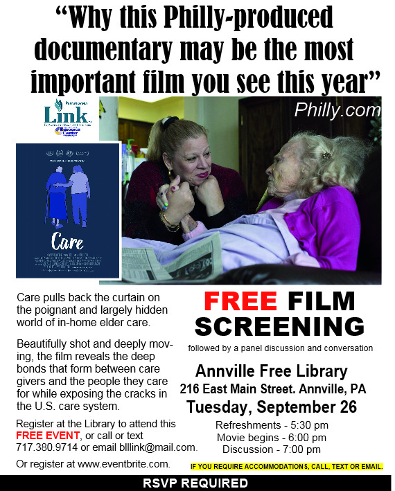 INFO SHEET FOR ANNVILLE LIBRARY