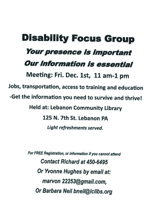 disability focus group