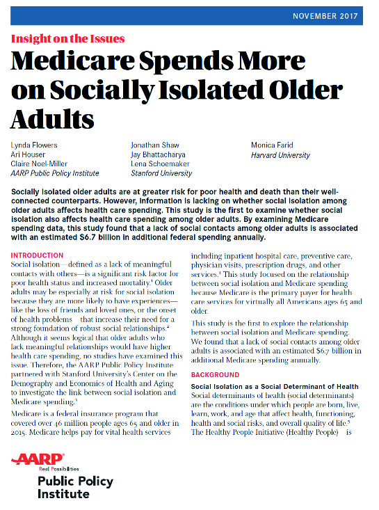medicare socially isolated