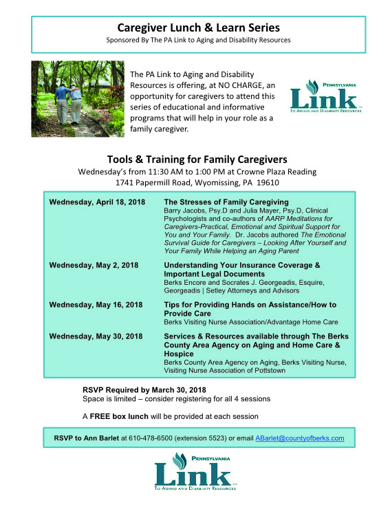 caregiver lunch and learn