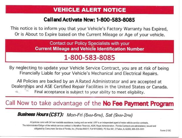 urp vehicle scam 2