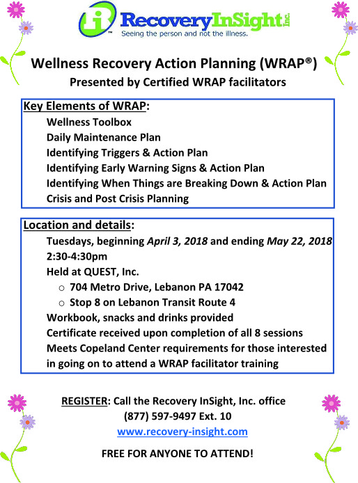 WRAP at QUEST April-May 2018