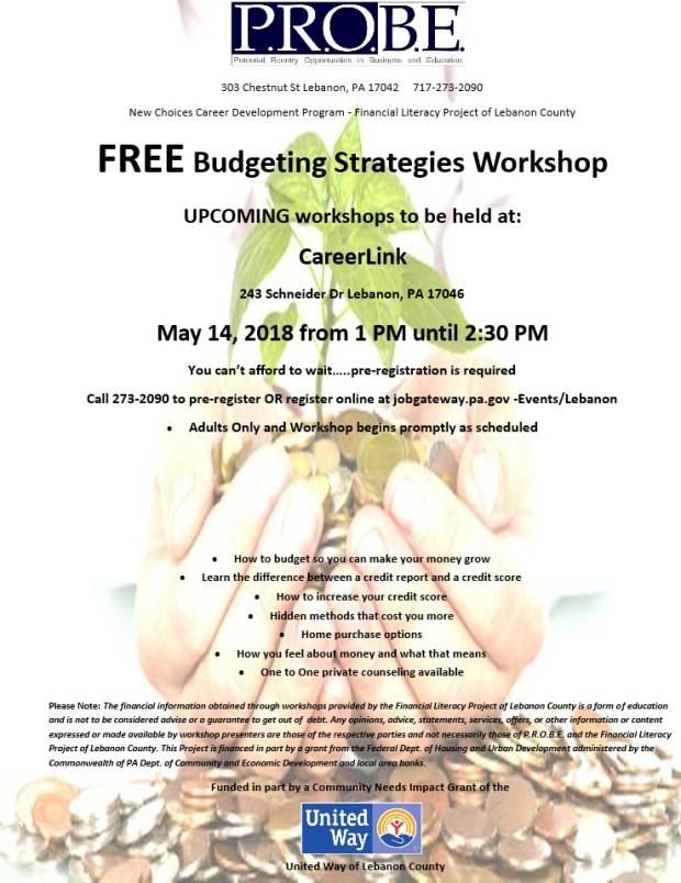 5-14 budgeting class