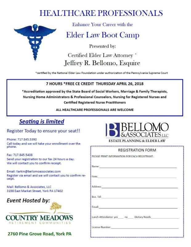 elder law bootcamp