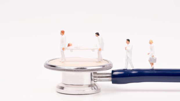 miniature health care team and medical tool,stethoscope