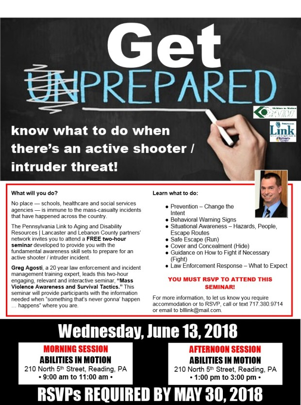 Draft active shooter flyer Berks