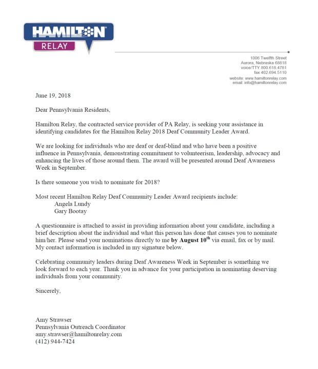 hamilton relay