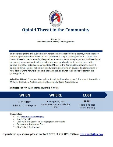 opioid threat training