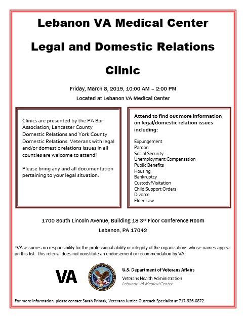 VA Legal Clinic March
