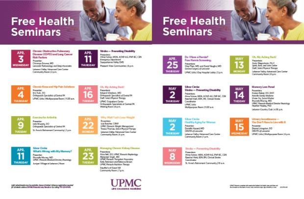 UPMC Health Seminars
