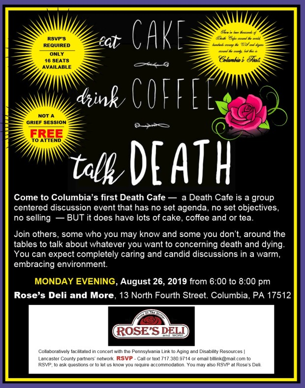 Rose's Death Cafe corrected date