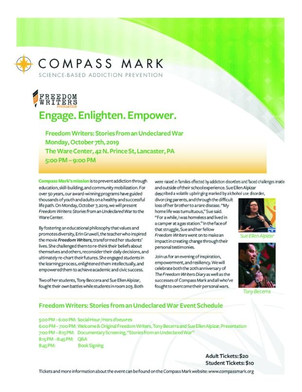 compass mark freedom writers