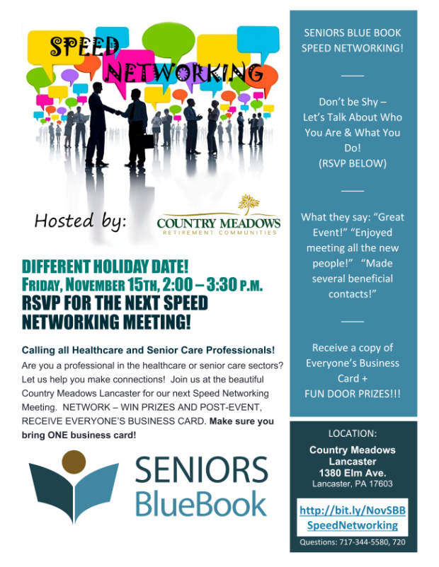 SBB Speed Networking Country Meadows Lancaster 11-15-19