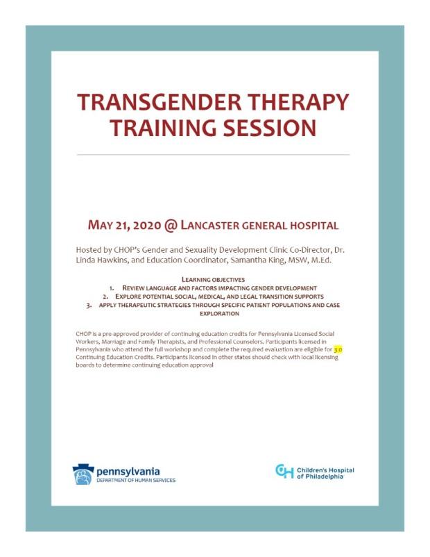 transender therrapy training