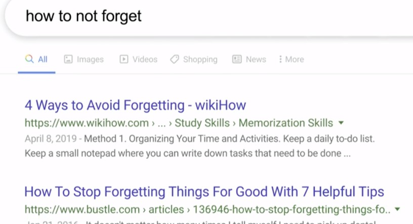 google remember