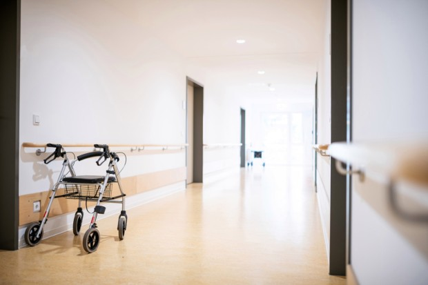 Walking frame in the corridor, Germany