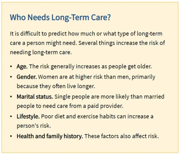 who needs long term care