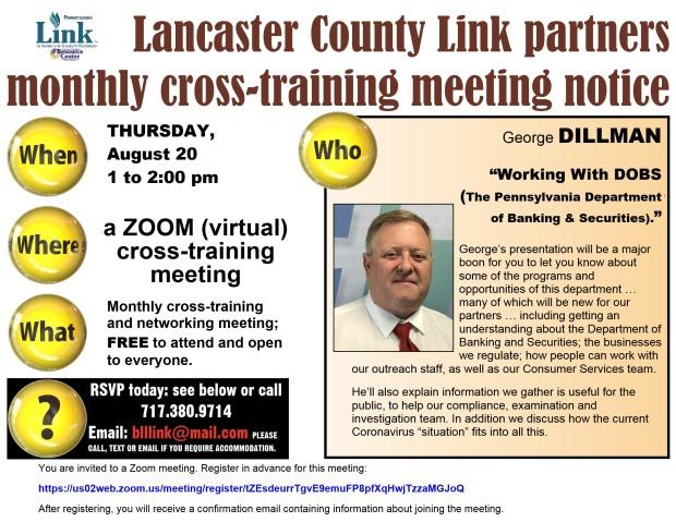 08-2020 Lancaster Link cross-training meeting