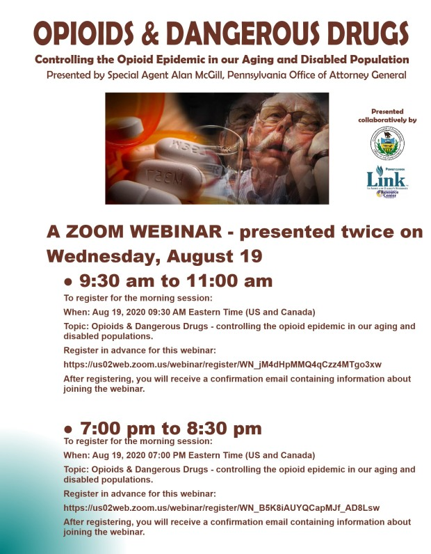 OPIOID ADDICTION ZOOM PROGRAM August 2020