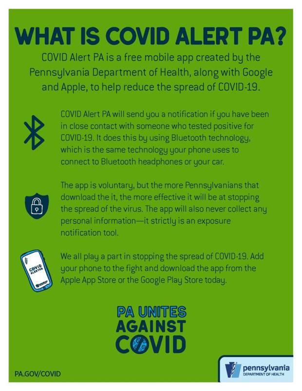 covid alert PA