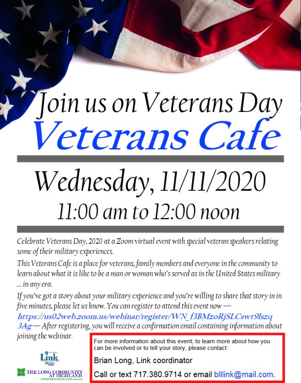 Veterans cafe announcement DRAFT