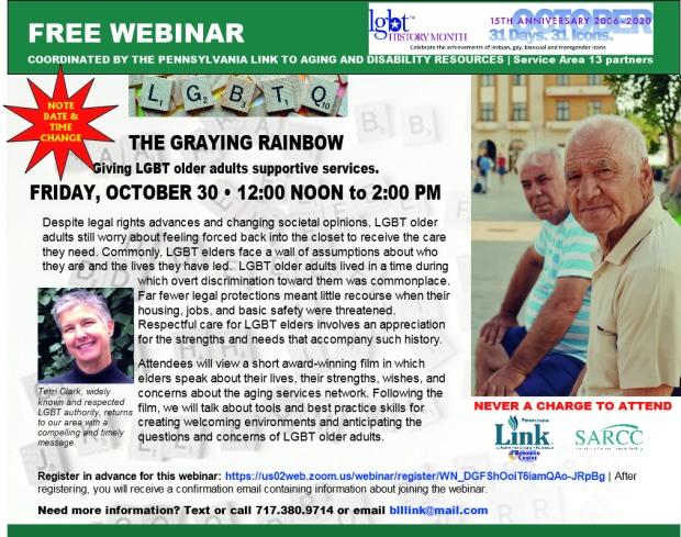 graying rainbow DATE CHANGE