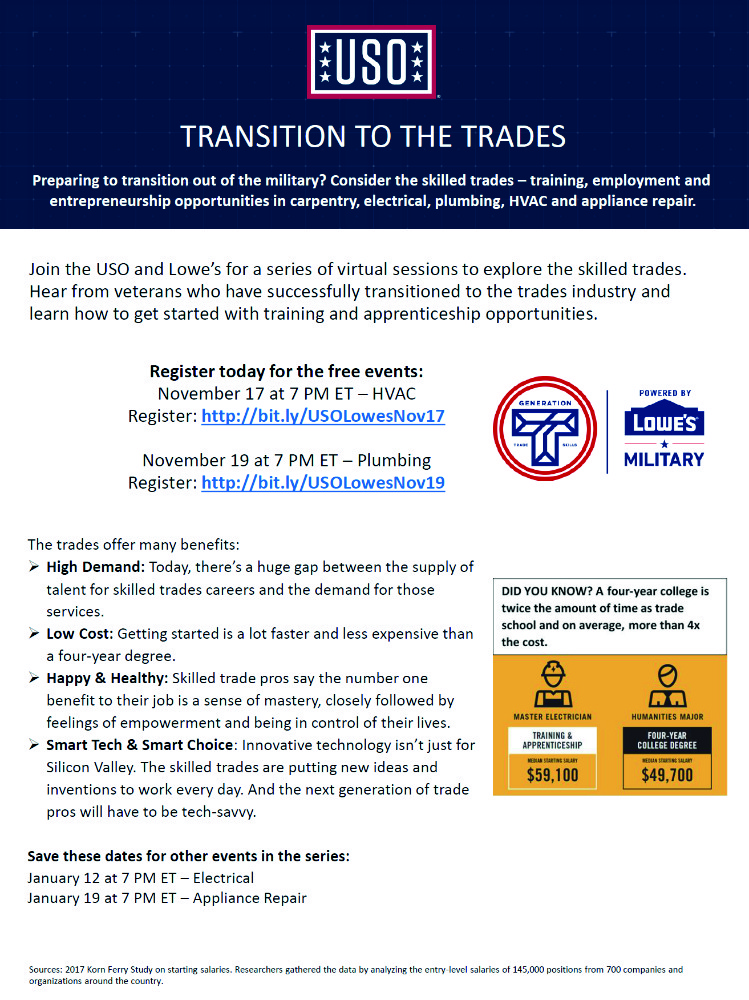 lowes transition to the trades