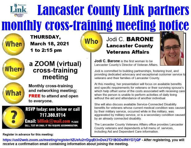032021 Lancaster Link cross-training meeting