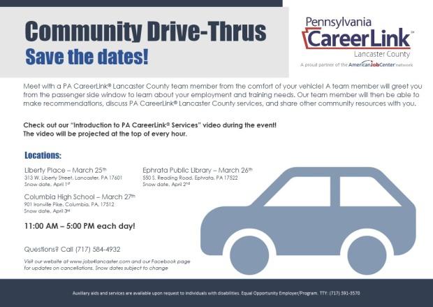 careerLink community drive throughs