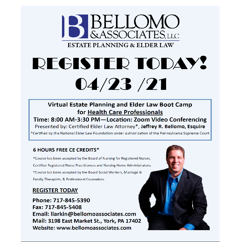Bellomo estate planning workshop 0423