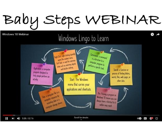 baby steps webinar