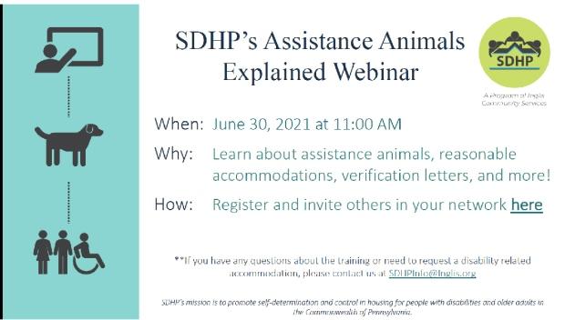 sdhp assistance animals