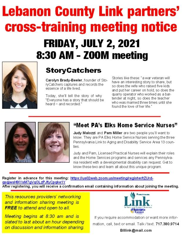 LebLink July meeting notice