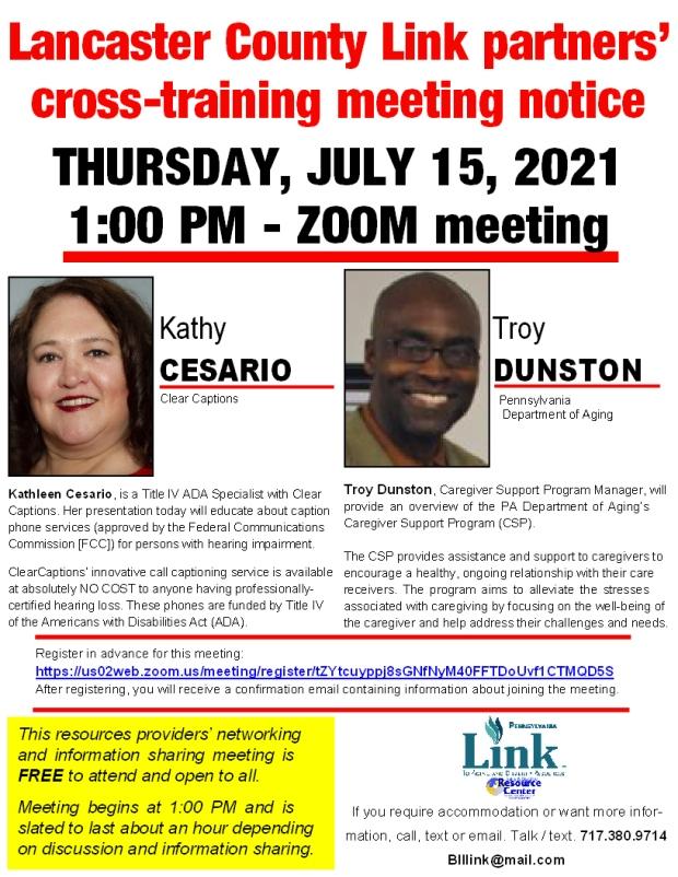 07152021 LANCLINK meeting